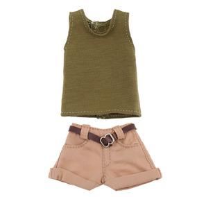 Chaleco De Tela Elástico + Pantalones Cortos De Cinturón A a1252eb06ea2