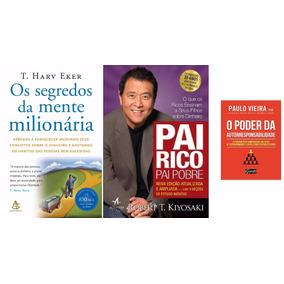 Pai Rico Pai Pobre + Segredos Da Mente Milionária + 1 Livro