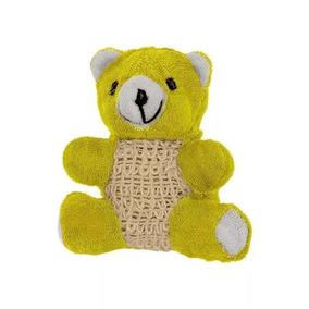 Esponja Para Banho Urso Amarelo Infantil Higiene