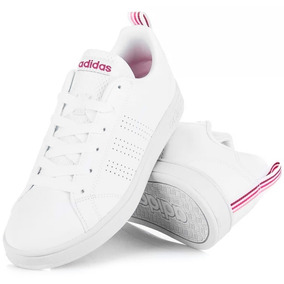 Tenis Advantage Blanco/lila Fiusha Magenta Dama Juvenil Cl