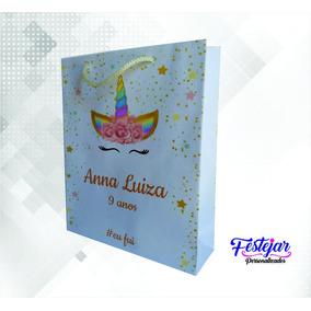 Sacola Surpresa Unicornio Personalizada (mod3) 20 Uni