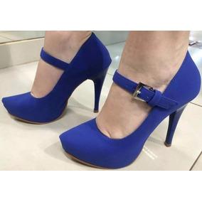 5b93e39cc Scarpin Azul Royal Boneca - Sapatos no Mercado Livre Brasil