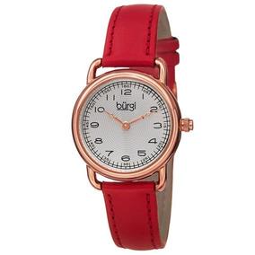 56e7d6361926 Reloj Burgi Bur121rd Clásico De Cuero Genuino