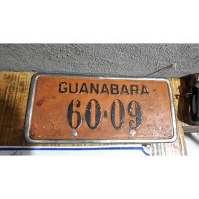 Placa Rarissima Antiga De Carro 4 Numeros