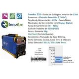 Máquina De Solda Inversora Inovarc 220 220v - 4mm A 100%
