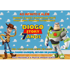 50 Convites Personalizados Toy Story