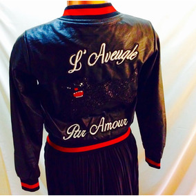 Chamarra Bomber Gucci L aveugle Par Amour Ed. Especial d0fced81cd9