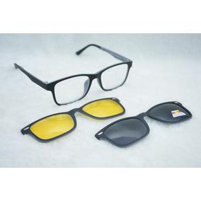 7fc2e2479f6df Armação Para Óculos De Grau Com Clip On São 4 Modelos - Óculos no ...