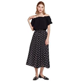 Falda Plisada Larga Negra - Faldas Mujer en Mercado Libre Colombia 86b1c11c95ac