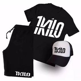 Kit Camiseta Boné Bermuda 1 Kilo Banda Rap Hip Hop Style