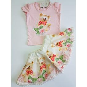 Conjunto Feminino Para Bebê Em Malha E Poliester Ref. 649