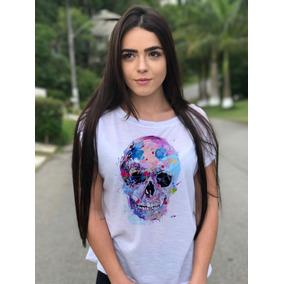 Camiseta Aquarela Manga Curta - Camisetas e Blusas no Mercado Livre ... 3dd33bc0e8ba0