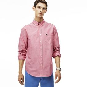 Camisa Lacoste Tipo Oxford Algodón - S - Original Nueva