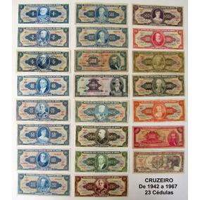 Coleção Completa Cédula Antiga 1943 A 1994 Baiana Inglesinha