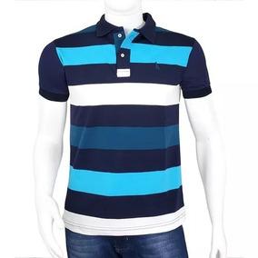 8e765e92f6 Camisa Polo Listrada Masculina Varia - Pólos Manga Curta Masculinas ...