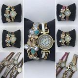 Reloj Pulsera Vintage Con Strass X5 Unidades X Mayor Envios!