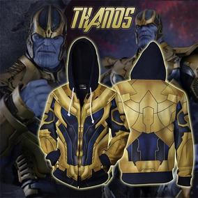 2019 Maravilla Avengers 4 Endgame Thanos Cremallera Capucha