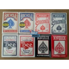 2 Bicycle Standard - 2 Bee - 2 Maverck - 2 Streamline Poker