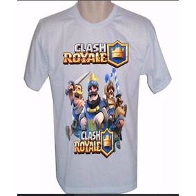 Camiseta Clash Royale Camisa Adulto E Infantil Kit Com 3