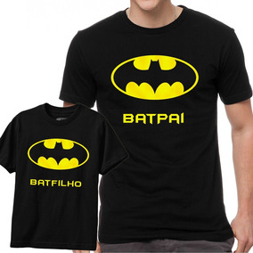 7b5e3fd7e Kit Camiseta Mae Pai Filho Batman - Camisetas Manga Curta no Mercado ...