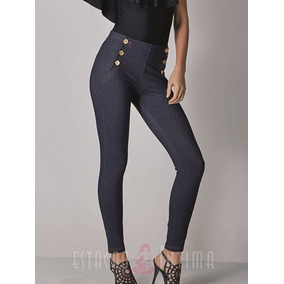 3964b2c89 Calça Legging Botões Jeans Demillus 000125