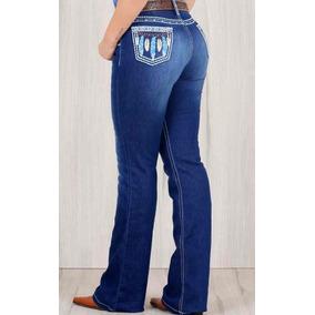 Calca Jeans Country Feminina Os Vaqueiros Ref 3031 Lixada 4cd8f9d421e