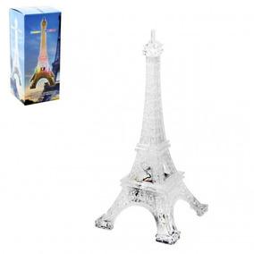 Enfeite Torre Eiffel Acrílico Com Led