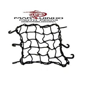 Rede Elástica Aranha Para Moto Capacete 35x35cm
