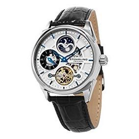 Reloj Hombre 657.01 Pulsera Cuero Negro Stuhrling