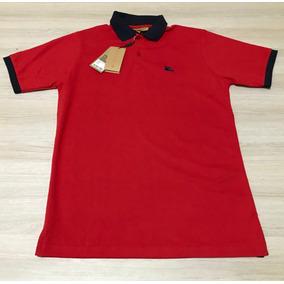 Camisa Polo Burberry Vermelha Original - Pólos Manga Curta ... edf417bd414df