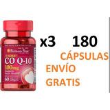 Coenzima Co Q10 Coq10 180 Cápsulas Envío Gratis.