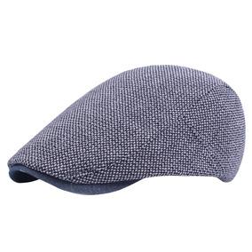 Clásico Hombres Algodón Ajustable Pato Plano Pato Sombrero