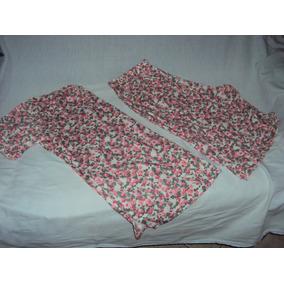 Conjunto Pijama Florido Feminino Esa Tamanho Gg
