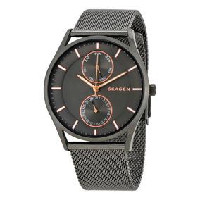 8c087dac7892f Relógio Skagen Denmark Steel - Relógios De Pulso no Mercado Livre Brasil