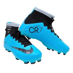 dd836562d5 Chuteira Nike Cristiano Ronaldo Rosa E Preta - Chuteiras Azul ...