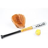 Kit Taco De Beisebol Vollo Taco + Luva + Bola Baseball