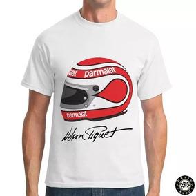 Camiseta Nelson Piquet Capacete F1 Assinatura + Adesivo ad357b6abcfc3