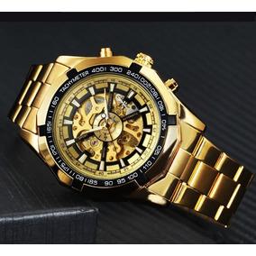 Relógio Masculino Luxo Automático Original Aço Inox Barato