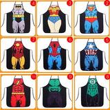 Divertido Mandil Sexy De Superhéroes