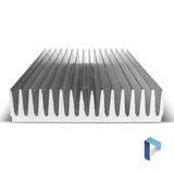 Disipador Aluminio Grande Alta Potencia - 13,5 X 30cm - 300w