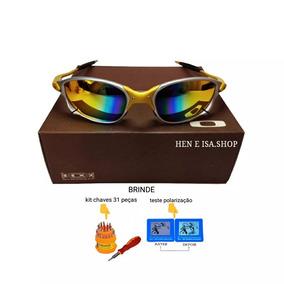 b9b19889f4837 Juliet 24k Lente Arco Iris De Sol Oakley - Óculos no Mercado Livre ...