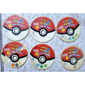Tazos Elma Chips Série Pokémon 01 - 06 - 08 - 19 - 30 - 44