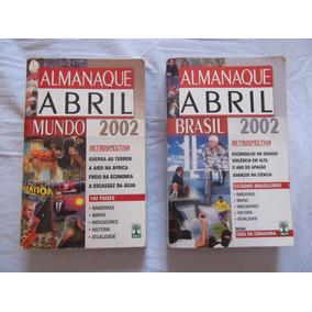 Almanaque Abril 2002. 2 Volumes: Abril Mundo / Abril Brasil.