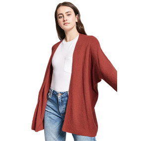 Sweater Abierto Cardigan Color Teja Moda Dama Forever 21 G