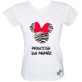 23d0ea7417 Camiseta Babylook Minie Zebra Princesa Da Mamãe