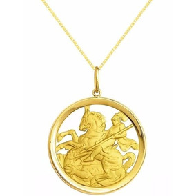 12255 Pingente Medalha Muito Grande Ouro 18k 750 - Pingentes de Ouro ... 2404bdeb77