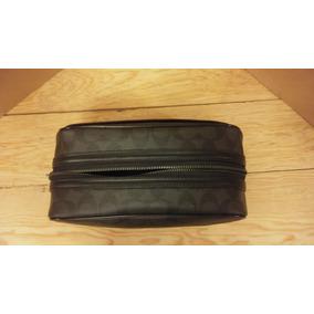 Travel Kit Coach Monogram Cuero Negro