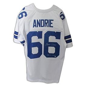 George Andrie Dallas Cowboys Autografió Blanco Jersey Inscri 23eda24c4