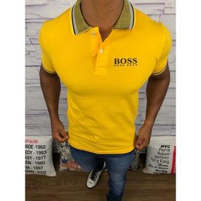 Camisa Polo Hugo Boss Amarela Masculina f625d072c3717