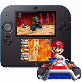 Nintendo 2ds Preto Com Azul Ou Com Mario Kart 7 Original